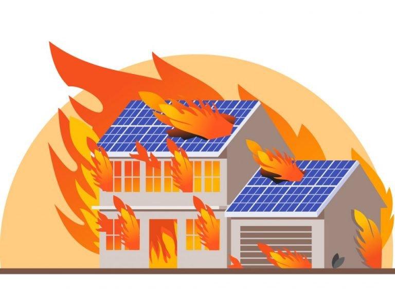 Pożary instalacji fotowoltaicznych